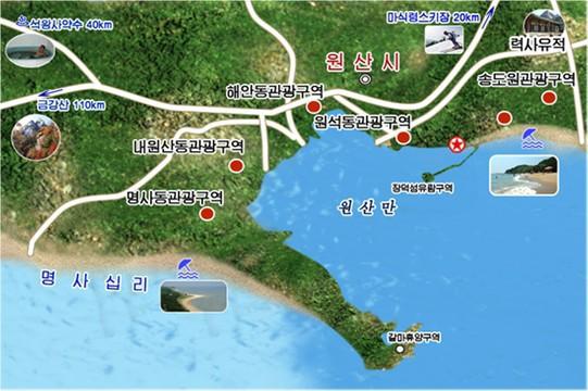 북한 강원도 원산 관광도 (명사십리).jpg