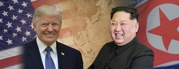 정상회담을 앞둔 김정은과 트럼프.jpg