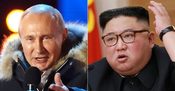 푸틴 러시아 대통령(사진 왼쪽)과 김정은 북한 국무위원장.jpg