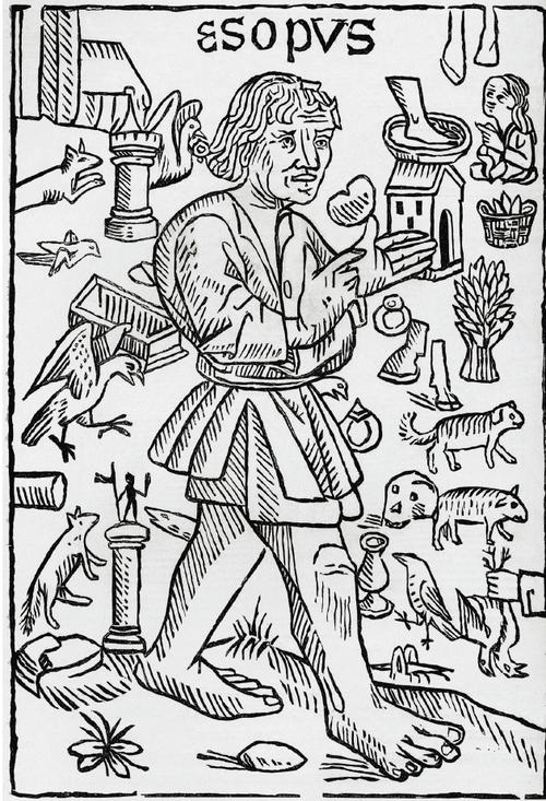 이솝-우화에-실린-이솝의-초상화.-1484년-윌리엄-캑스턴의-목판-삽화.jpg