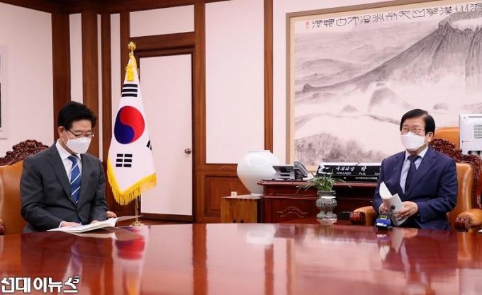 박병석 국회의장, 양승조 충청남도지사 예방 받아 0022222222222.jpg