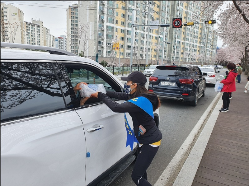 밀양 삼문동 벚꽃축제 취소,'사회적 거리두기'캠페인
