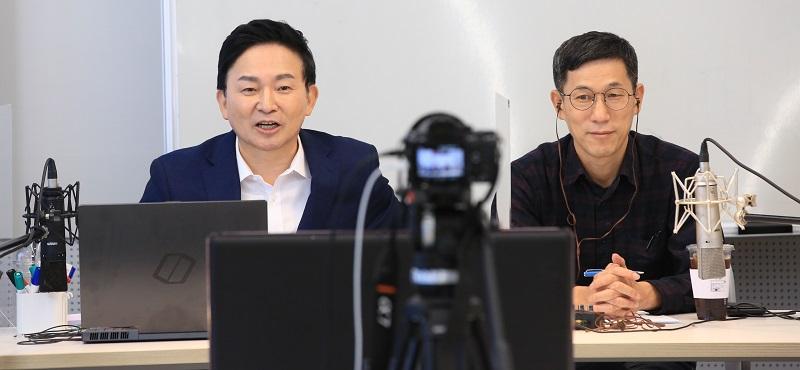 """""""원희룡-진중권, 이재명 경기도지사 압송작전"""""""