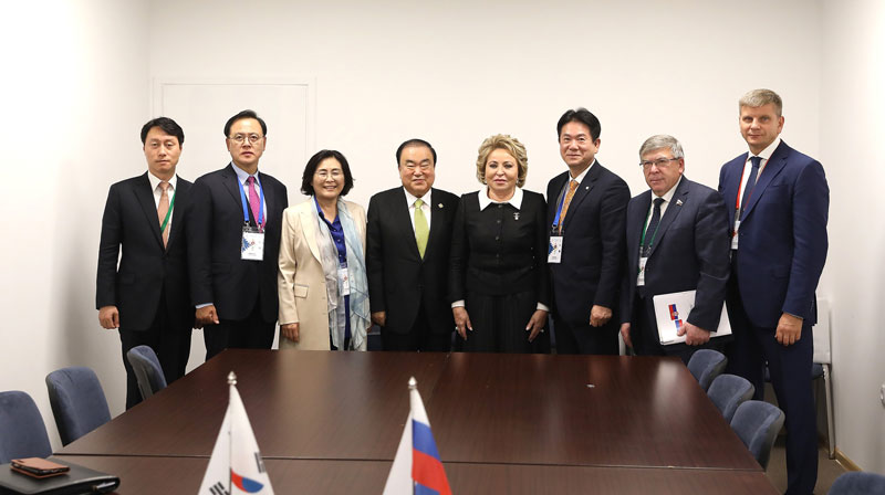 문희상 의장, 러 상원의장에'北비핵화․남북의회교류'지원 당부