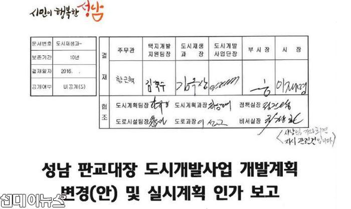 """이종배 """"이재명 성남시장 재직시...대장동 관련 공문 최소 10회 서명"""""""