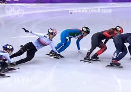 넘어진 금메달의 꿈.....쇼트트랙 여자 1000m 결승