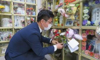지성호 의원, 첫 의정행보로 탈북민 무연고자 묘소 참배