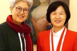 추미애 대표, 중국 푸잉과 양자면담...북핵 문제 해결 위해 한중간 협력 강조